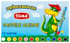 TO-585 pastele olejne_zębozaurus_12szt_op