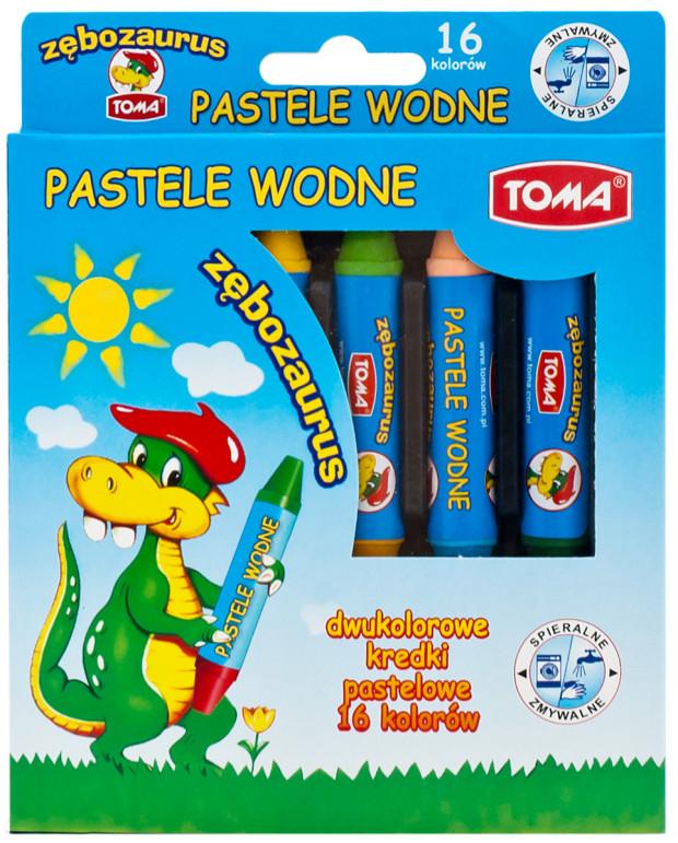 TO-587 pastele wodne_zębozaurus_16szt_op