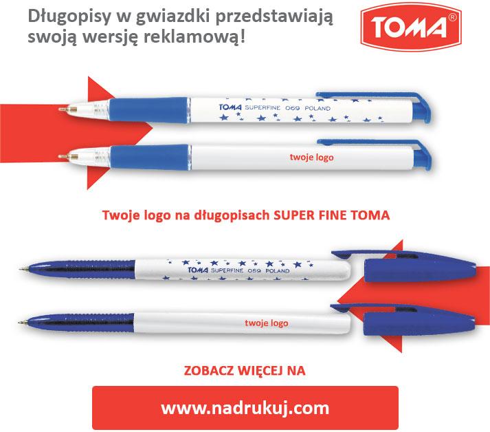 Długopisy w gwiazdki przedstawiają nową wersję relkamową